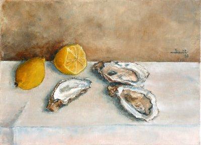 Galerie de thierry meheut artiste peintre jurassien for Interieur huitre